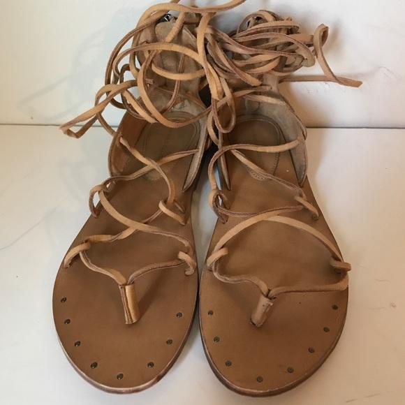 0707ec7cf03 Zara Lace Up Roman Gladiator Sandals. M 5a447fa546aa7ca9ea0c221c